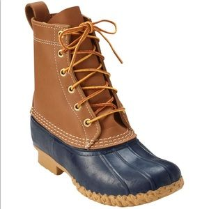 Women's Bean Boots by L.L.Bean Navy 11 Fur Insoles